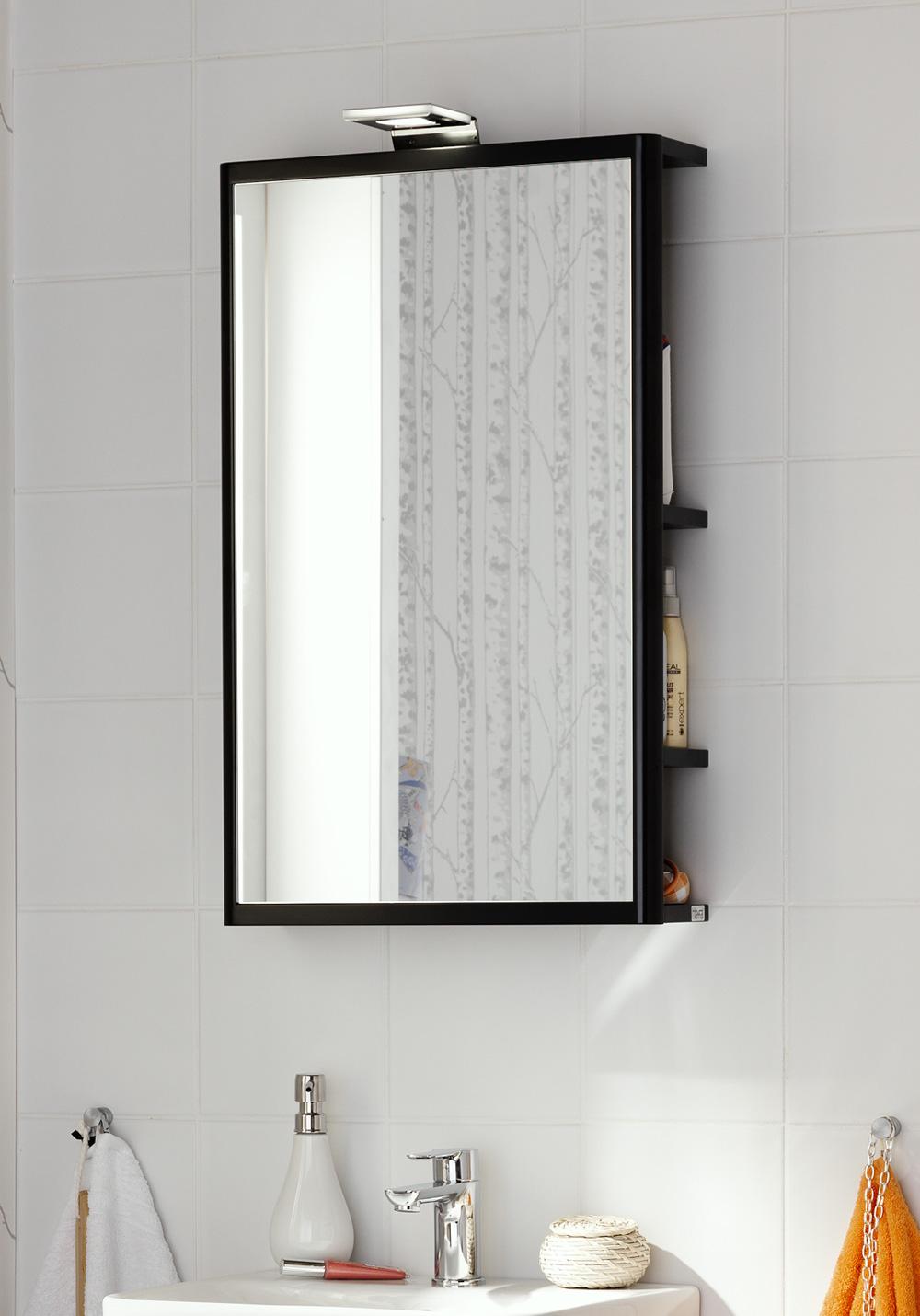 one speil med oppbevaring oppbevaringsspeil med myke former som ...
