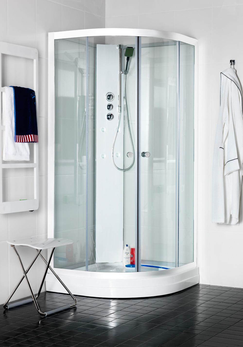 polaris massasjekabinett 90x90 r klarglass hafa baderom. Black Bedroom Furniture Sets. Home Design Ideas
